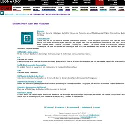 Rep�res & Ressources - Dictionnaires et autres sites ressources