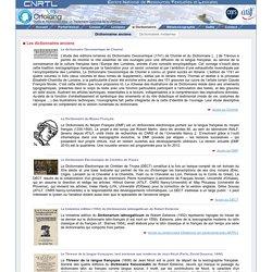 Centre National de Ressources Textuelles et Lexicales - Dictionnaires anciens