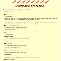 Ressources didactiques sur Internet: grammaire. C. Vera.
