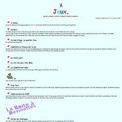 Ressources didactiques sur Internet: jeux. C. Vera.