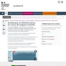 Ressources > Numérique et différenciation en cours de langues vivantes