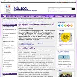 Vade-mecum et fiches ressources sur les nouvelles sanctions disciplinaires - Les punitions scolaires et les sanctions disciplinaires