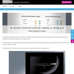 De nouvelles ressources gratuites intégrées au catalogue de votre portail e-sidoc - Solutions documentaires