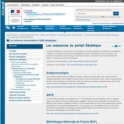 Les ressources du portail Éduthèque — Documentation (CDI)
