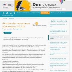 Gestion des ressources numériques au CDI - Documentation