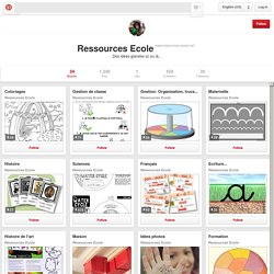 Ressources Ecole on Pinterest