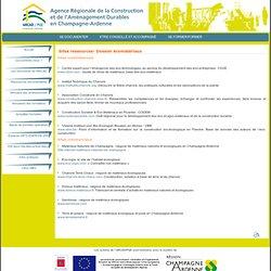 Edito : Sites ressources- Dossier écomatériaux : ARCAD / PQE