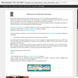 Ressources en Education Cosmique