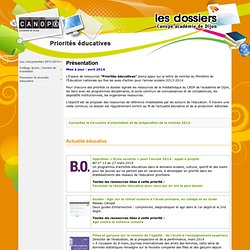 Espace ressources CRDP de Dijon - Priorités éducatives