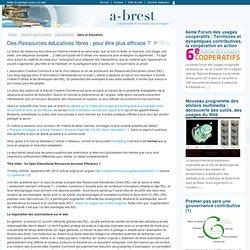 @ Brest - Des Ressources éducatives libres : pour être plus efficace ?