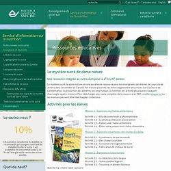 Les ressources éducatives de l'Institut canadien du sucre