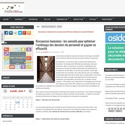 Ressources humaines : les conseils pour optimiser l'archivage des dossiers du personnel et gagner en efficacité