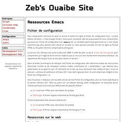 Ressources Emacs