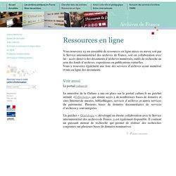 Archives.gouv ressources en ligne