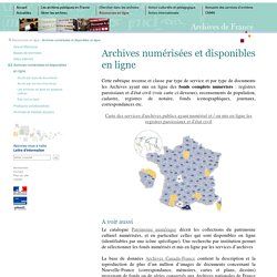 Archives en ligne