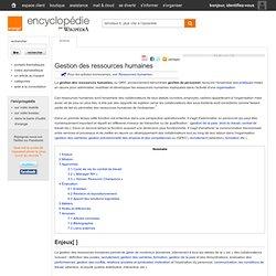 Article sur Gestion des ressources humaines Orange Encyclopédie par Wikipédia