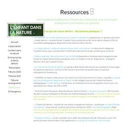 Ressources - L'enfant dans la nature