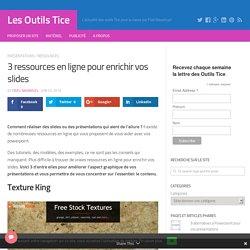3 ressources en ligne pour enrichir vos slides