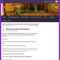 Ressources pour l'enseignant – LE CASNAV de Bordeaux-Aquitaine