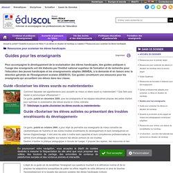 Guides pour les enseignants - EduSCOL