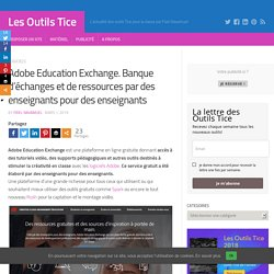 Adobe Education Exchange. Banque d'échanges et de ressources par des enseignants pour des enseignants