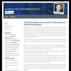 statut juridique des ressources en Elearning