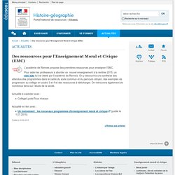Des ressources pour l'Enseignement Moral et Civique (EMC)-Histoire-géographie-Éduscol