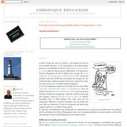 Conseils et ressources pour débuter dans l'enseignement - 2013