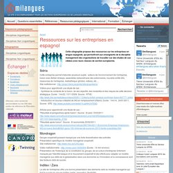Ressources sur les entreprises en espagnol
