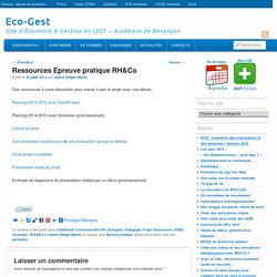 Ressources Epreuve pratique RH&Co