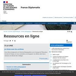 Ressources en ligne - Ministère de l'Europe et des Affaires étrangères