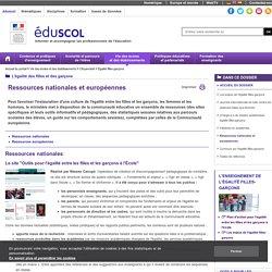 Égalité filles-garçons - Ressources nationales et européennes