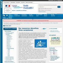 Des ressources éducatives libres européennes — Enseigner avec le numérique
