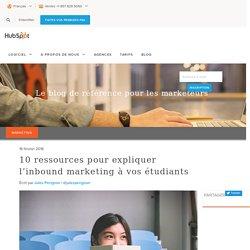 10 ressources pour expliquer l'inbound marketing à vos étudiants