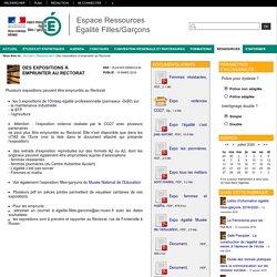 Espace Ressources Égalité Filles/Garçons - Des expositions à emprunter au Rectorat