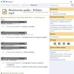 Ressources audio : fichiers mp3- Espagnol