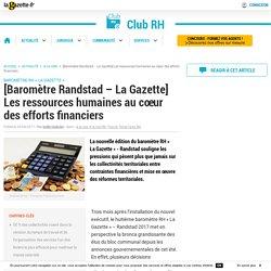 [Baromètre Randstad - La Gazette] Les ressources humaines au cœur des efforts financiers