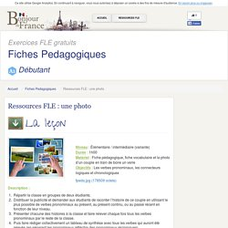 Ressources FLE : une photo