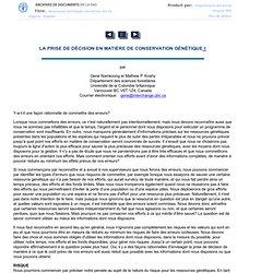RESSOURCES GÉNÉTIQUES FORESTIÈRES N.28
