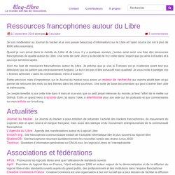 Ressources francophones autour du Libre