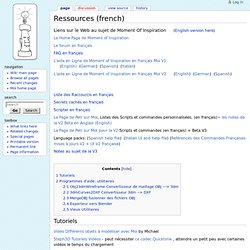Ressources (french) - MoiWiki