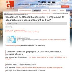 Ressources de Géoconfluences pour le programme de géographie en classes préparant au C.A.P. (sept. 2019)