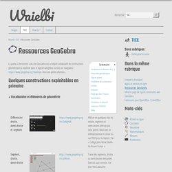 Ressources GeoGebra - Waielbi