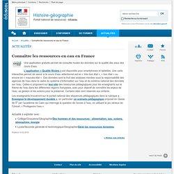 Connaître les ressources en eau en France-Histoire-géographie-Éduscol