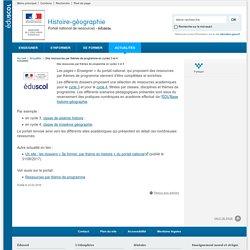 Des ressources par thèmes de programme en cycles 3 et 4-Histoire-géographie-Éduscol