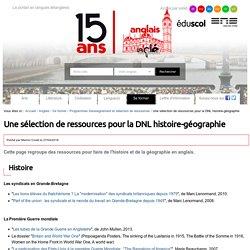 DNL : histoire-géographie — Anglais