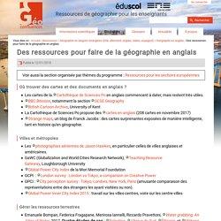Des ressources pour faire de la géographie en anglais