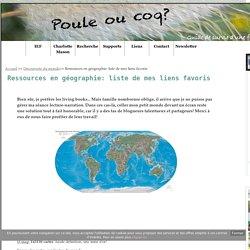 Ressources en géographie: liste de mes liens favoris - Poule ou coq?