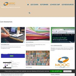 LES RESSOURCES - MOOC Gestion de Projet