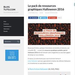 Le pack de ressources graphiques Halloween 2016 - Blog Tuto.com